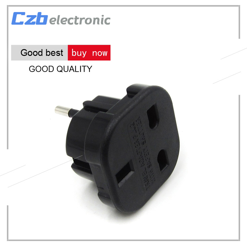 Travel UK to EU Euro Plug AC Power Socket Travel Home Charger Adapter Converter