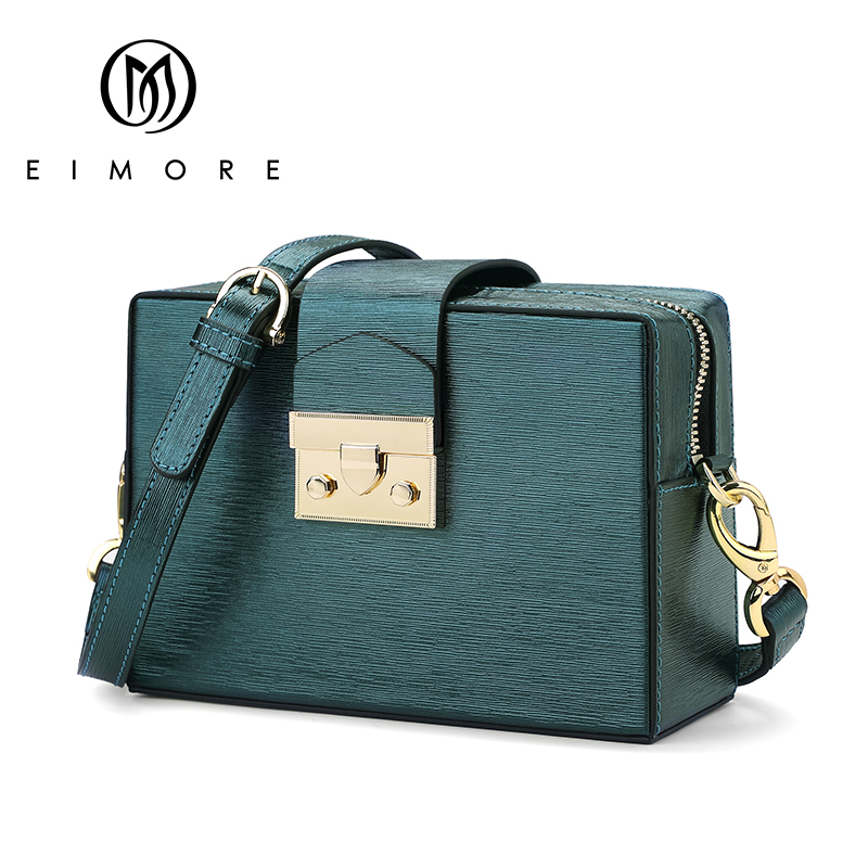 EIMORE 2018 Summer Genuine Leather Shoulder Bag Women Crossbody Bags Anti-thief Women Bags Small Flap Messenger Bag Mini