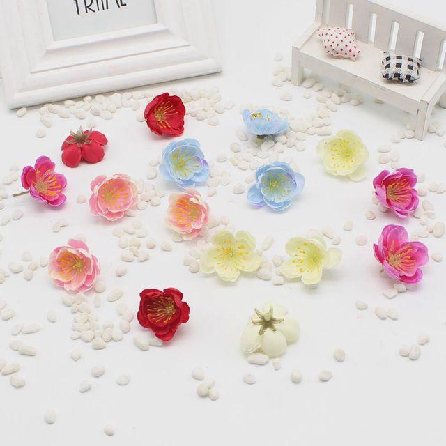 10pcs / lot Mini Cherry Blossom Flower Bouquet Artificial Silk Baby ...