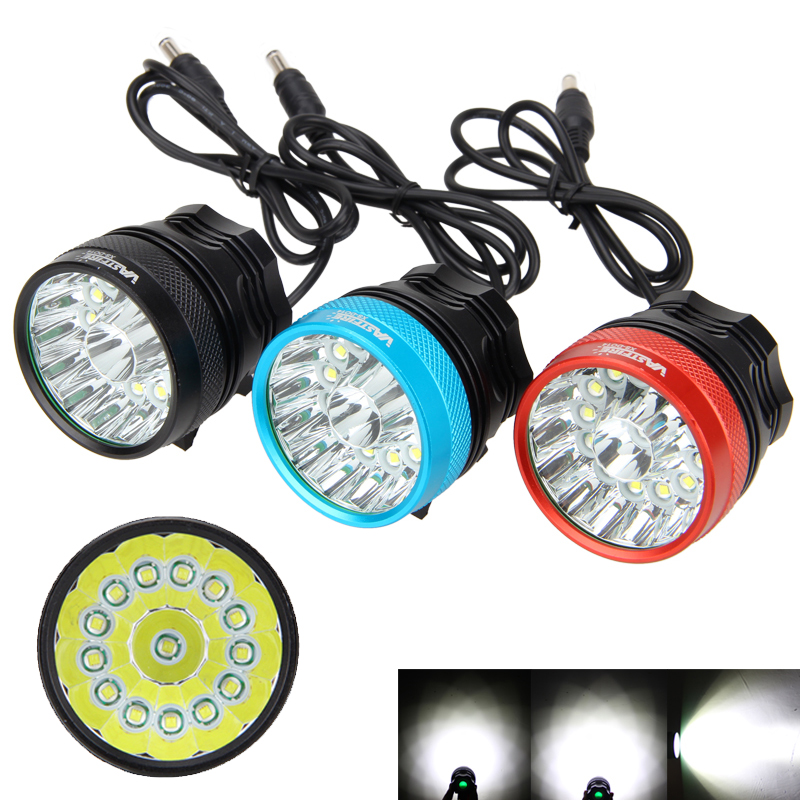 Rechargeale 30000LM 14x XM-L T6 LED Bicycle Bike Lights Head Light Torch Lamp +6*18650 Battery + Headband
