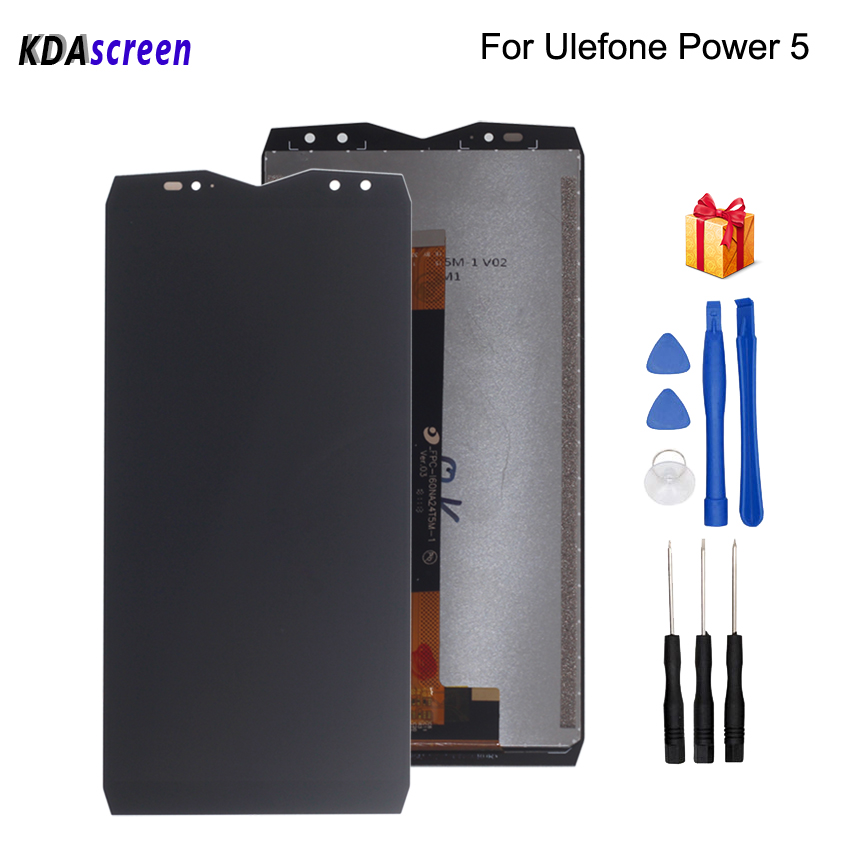 Original For <font><b>Ulefone</b></font> <font><b>Power</b></font> <font><b>5</b></font> LCD Display Touch <font><b>Screen</b></font> Digitizer Phone Parts For <font><b>Ulefone</b></font> <font><b>Power</b></font> <font><b>Screen</b></font> LCD Replacement Free Tools image