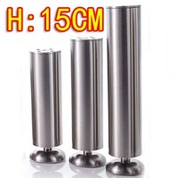2PCS Freeshipping Stainless Steel Cabinet Coffee Table Legs Diameter 50mm H 150MM Adjustable H 16mm