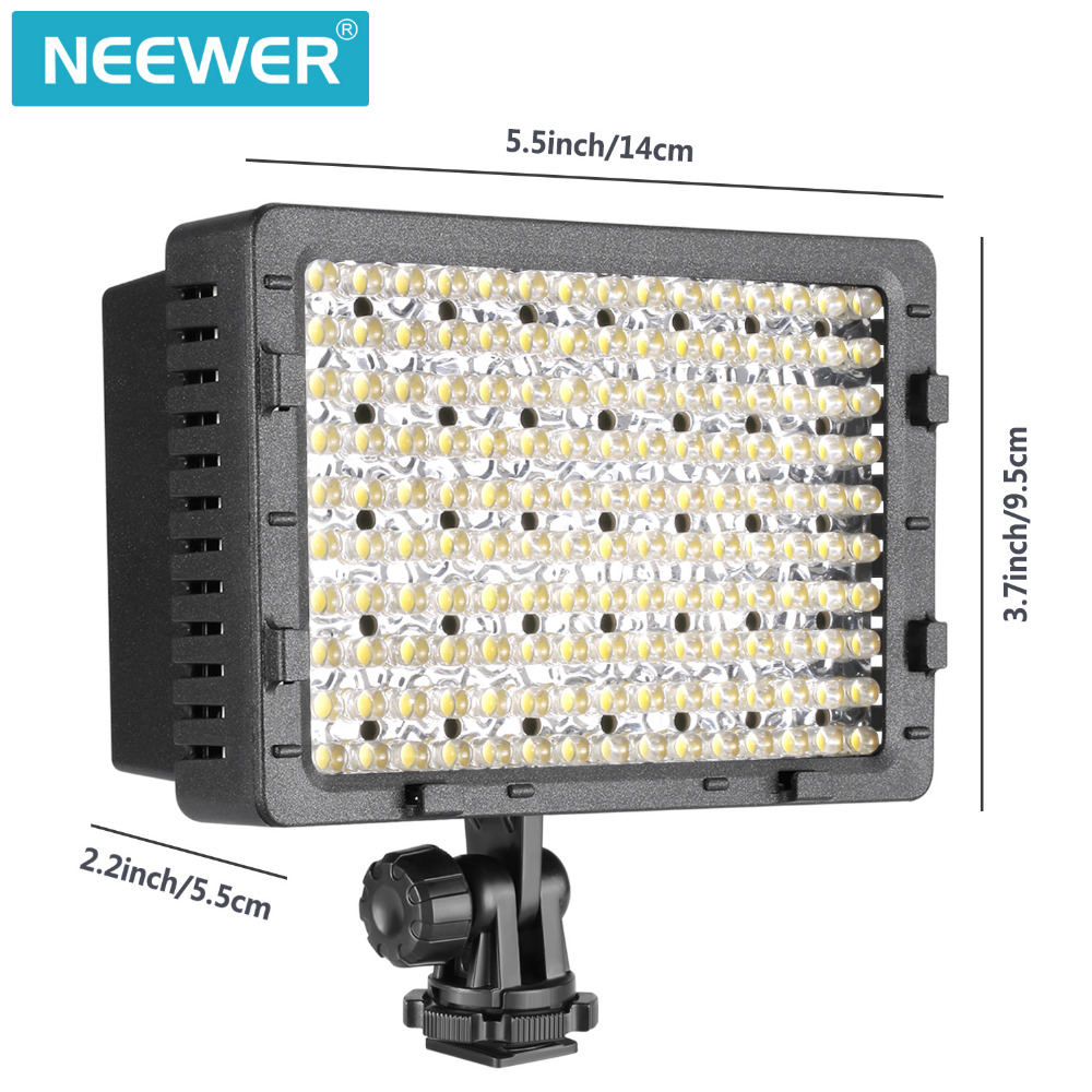 NEEWER 2-Pack 160 LED CN-160 Dimmable Ultra High Power Panel Digital Camera  for Canon Nikon Pentax Panasonic Olympus Digital фотографическое освещение neewer 300pcs canon nikon samsung olympus jvc pentax