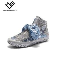 IGU/женские туфли на плоской подошве; модная женская обувь на платформе с бантом бабочкой; уличная Уличная обувь без застежки с заклепками; же