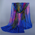 Peacesky Brand Cheap Promot Fashion Ladies Graffiti Print Chiffon Scarf for women ,Wholesale