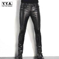 2018 Новая мода мужская с длинным Брюки для девочек Пояса из натуральной кожи коровы Slim Fit Мотоцикл Байкер мужской Мотобрюки Черный цвет; Боль