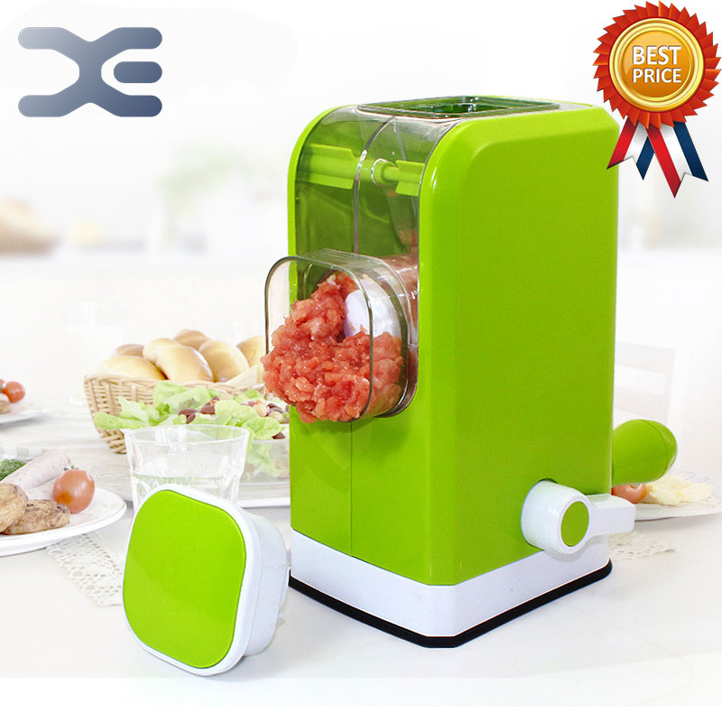 ФОТО 2Per Multifunction Hand Meat Mincer Household Meat Cutter Machine Filling Machine Stainless Steel Knife