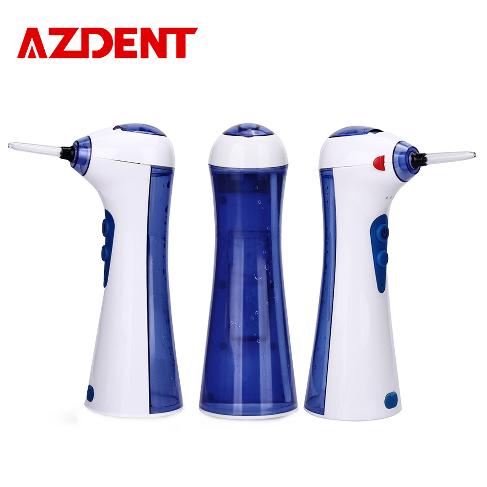 AZDENT Advanced Pro Electric Oral Irrigator Dental Flosser USB Charger Rechargeable Dental Floss Pick 2 Nozzles 120ML Water Tank advanced the mvp pro