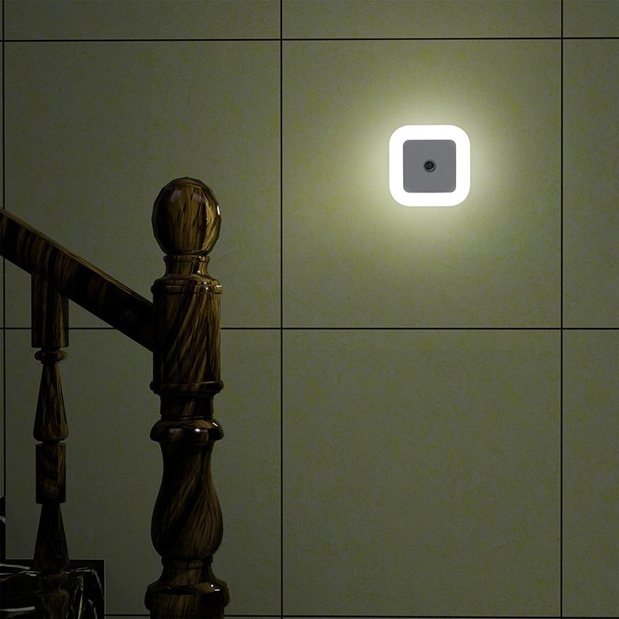 1Pcs Mini Auto Sensor Smart LED Night Lights AC110V-240V Emergency Nightlight Auto On/Off For Hallway Pathway Closet Wall Lamp