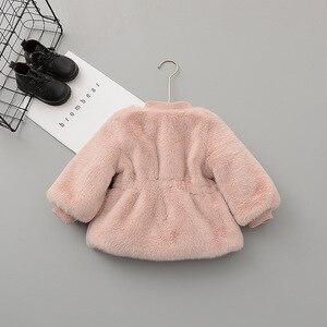 Image 2 - Chaqueta y abrigo de invierno para bebés y niñas ropa de invierno de piel sintética, abrigo cálido para bebés, ropa de abrigo para bebés