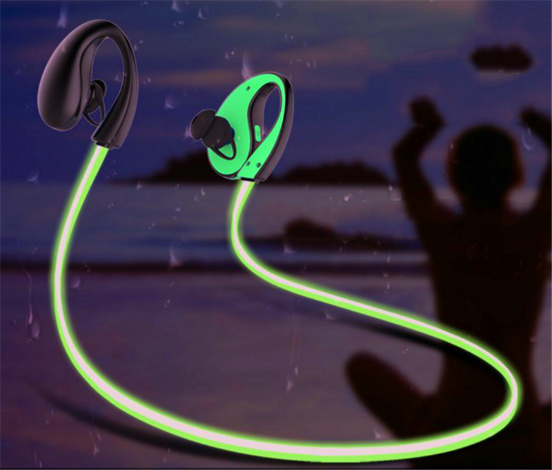 glow in the dark headphones bluetooth earset active noise cancellation luminous fitness earphones over ear headset neckband graffiti party diy glow in the dark luminous pigment
