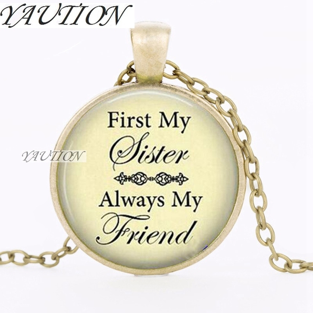YAUTION 2018 Pendant Necklace First My Sister Friend