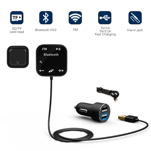 BT 760 Bluetooth Audio Receiver FM Transmitter Hands free Car Kit ...
