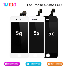10PCS/LOT Full set Assembly LCD Display For iPhone 5 5G 5S 5C with touch screen A+++ Quality White and black Fast Shipping