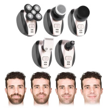 Waterproof Men Shaver Cleaning Wet/Dry 5D Beard Shaver For M