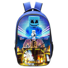 New DJ Smiley Face School Bag Game Battle Royale Children Cosplay Bookbag For Kids Women&Men Fashion leisure travel Backpack(China)