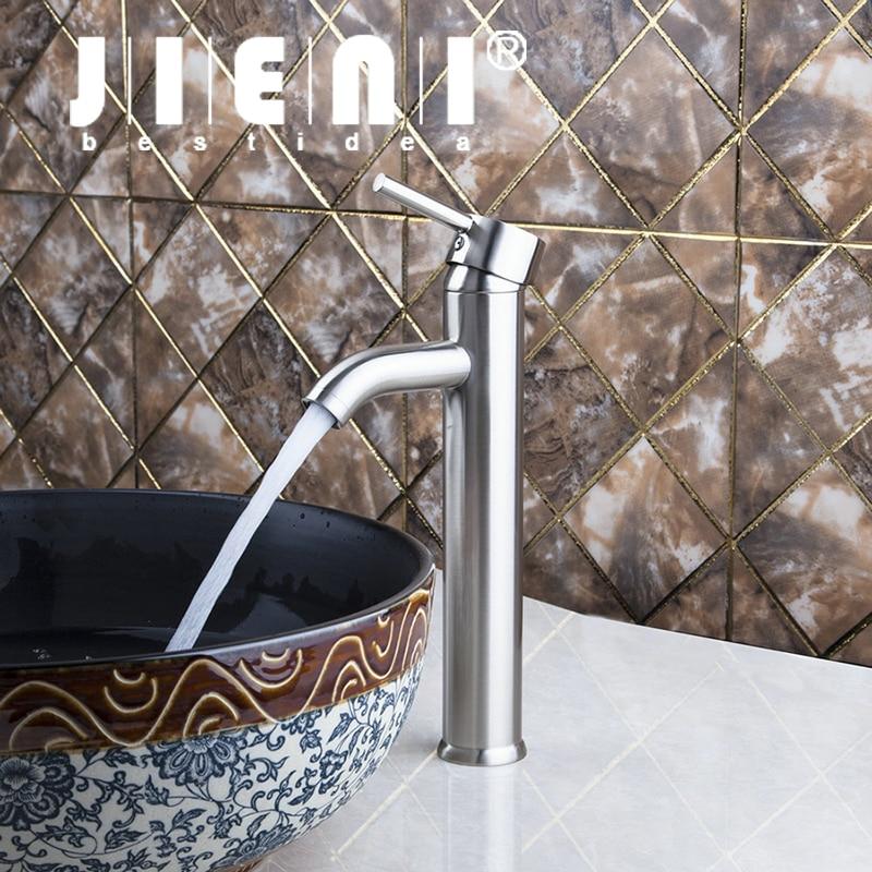 Brushed Nickel Bathroom Faucet Couner Top Single Handle Wash Basin Sink Vessel Torneira Tap Mixer Faucet