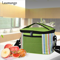 Laumango Thermo Large Meal Package Lunch Bag Crossbody Women Child Cold Storage Take Away Shoulder Bags