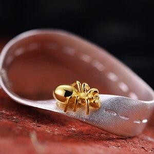 Image 3 - 蓮楽しいリアル 925 スターリングシルバー手作りのクリエイティブ勤勉アリデザインネックレスなし女性のためのギフト