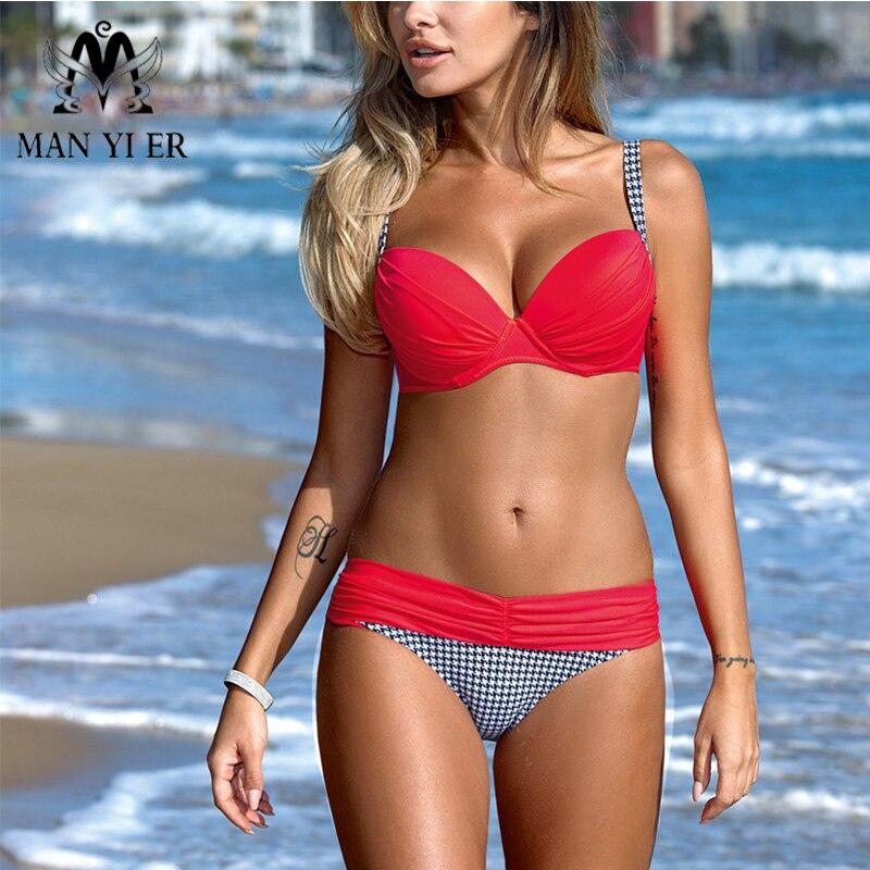 Bikinis Swimwear Women 2017 Sexy Swimsuit Brazilian Bikini Set Push Up Low-Waist Bathing Female Plus Size Swimwear Swimming Suit