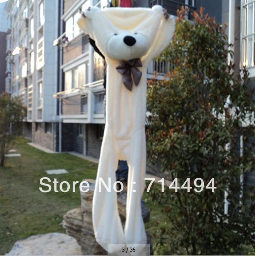 ФОТО wholesale 230cm Huge size teddy bear skin plush toy high quality low price holiday gifts large Toy  free shipping