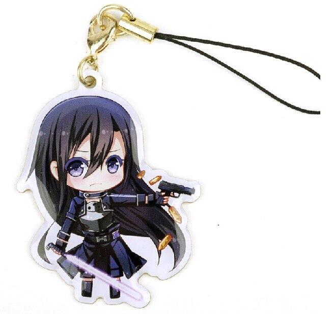 GGO Gun Gule Online Kirito Female Cute Anime Character Metal Pendant Badge Phone Strap Chain Gift On Aliexpress