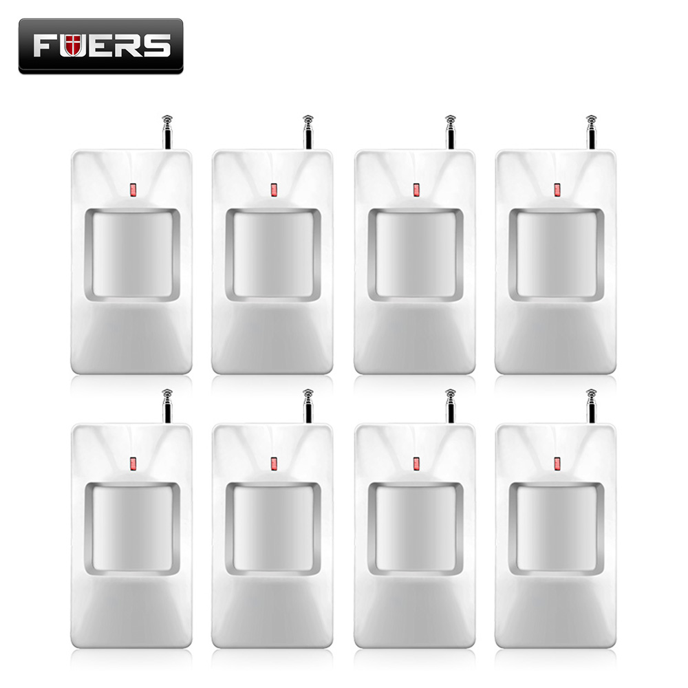 8pcs/lot Wireless PIR Sensor/Motion Detector For Wireless GSM/PSTN Auto Dial Home Security Alarm System without battery 433mhz wireless pet immune pir sensor motion detector for wired wireless gsm pstn auto dial home security alarm system