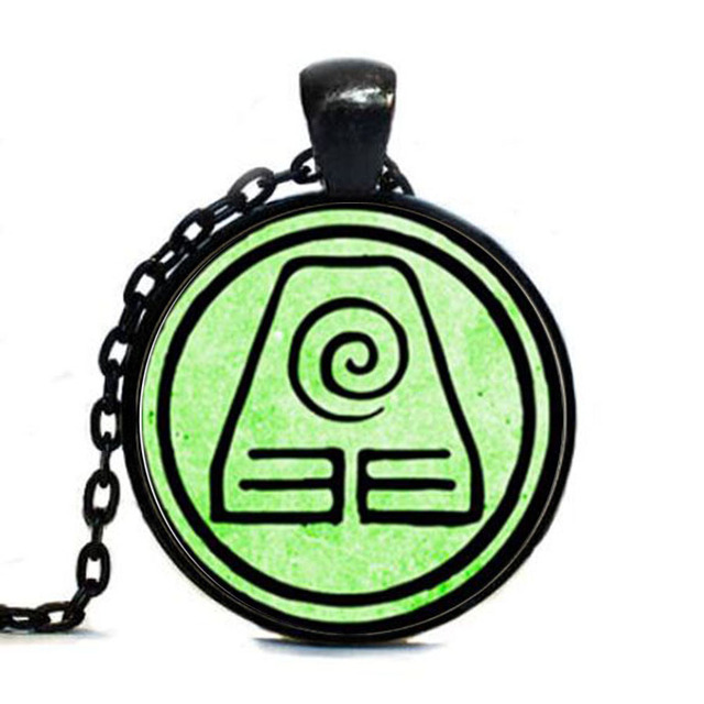 Avatar The Last Airbender Two Choice Jewelry Earth Kingdom Tag Glass