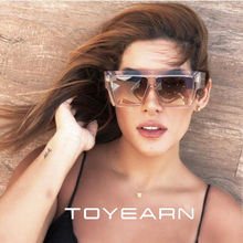 TOYEARN 2019 New Fashion Brand Designer Oversized Square Sunglasses Women Men Flat Top Big Frame Sun Glasses For Female