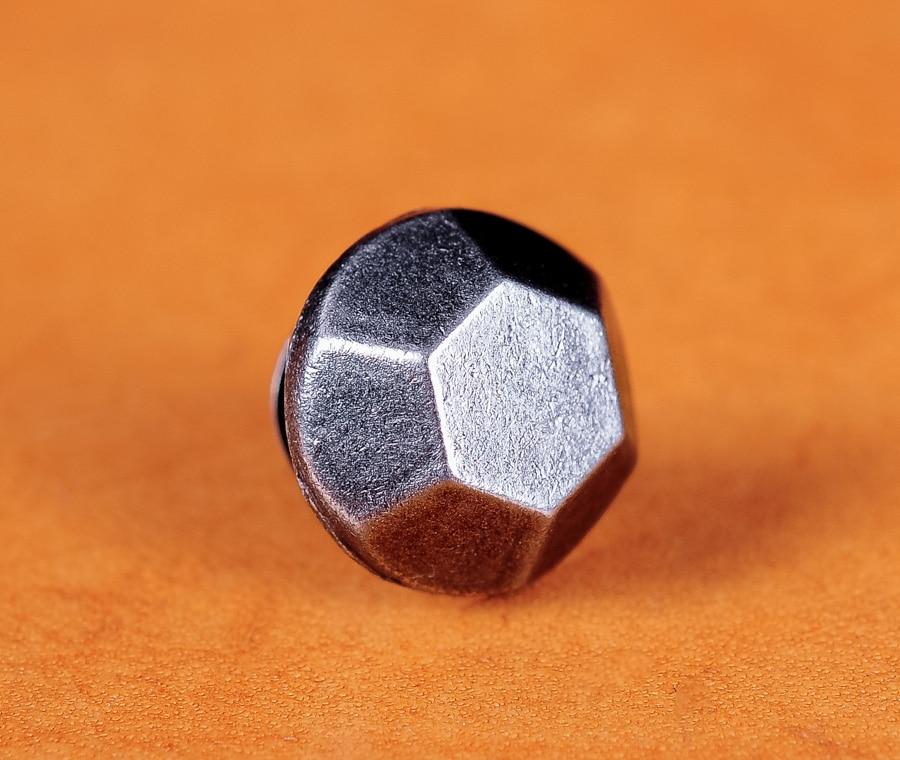 50pc10MM Antike Silber Hexagon Flache Schnelle Niet Leathercraft Studs Dekorative