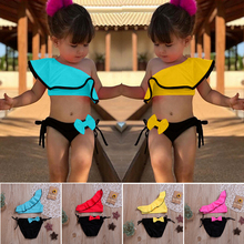 1-7Years 2Pcs Toddler Baby Girl Swimwear Floral Bikini Dress Outfit Beach Bathing Clothes Set
