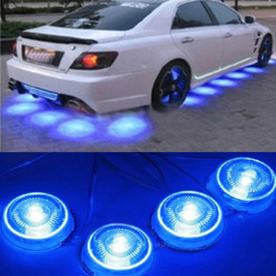 Possbay 8 Pcs Blue Light Led Under Car Glow Underbody Lights
