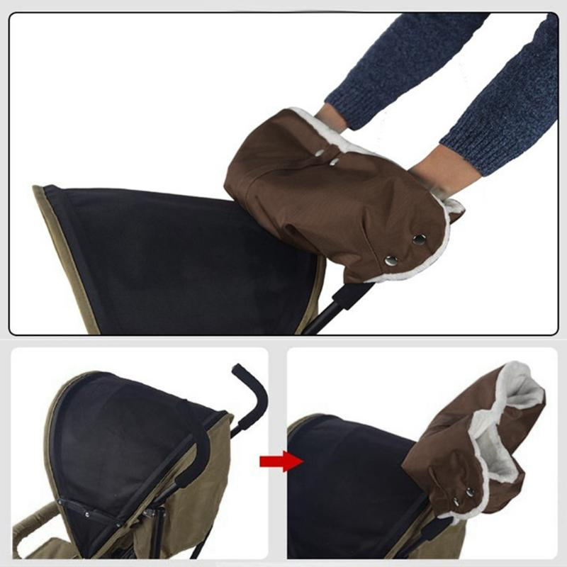 Baby Stroller Gloves For Winter Waterproof Anti Freeze Pram Hand Cart Glove RU