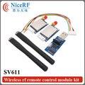 2 шт./лот SV611 TTL Интерфейс 868 МГц 100 МВт GFSK Si4432 Беспроводной Модуль с 2 шт. Резиновой Антенной и 1 шт. USB Мост boad
