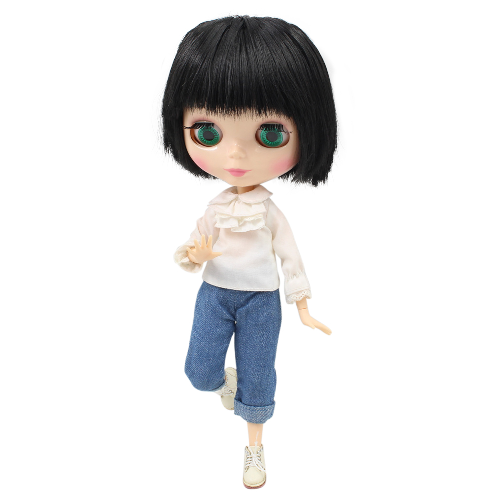Fortune Days Nude Blyth doll Male doll Series No BL9601 Black hair Male Joint body Suitable