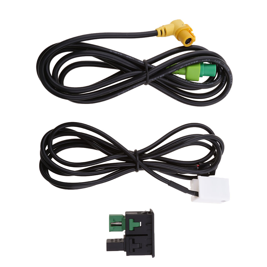 Car <font><b>USB</b></font> AUX Audio Input Cable <font><b>Adapter</b></font> Plug Kit For VW <font><b>Passat</b></font> <font><b>B6</b></font> B7 CC Touran image