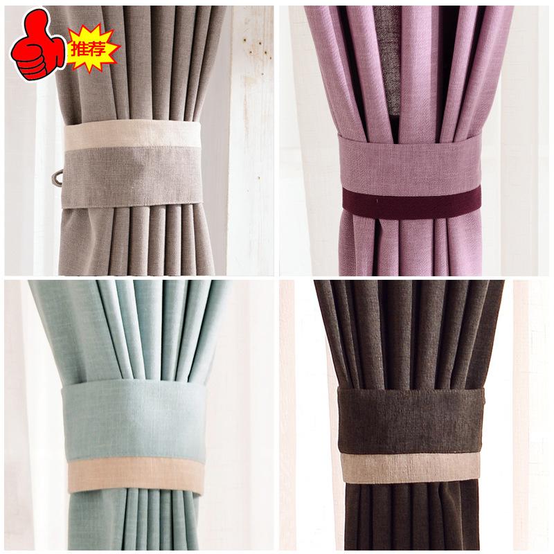 moderno minimalista dormitorio sala de estar cortinas de lino de color slidochina mainland