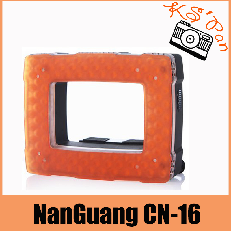 126c5655a0017 NanGuang CN-16 LED الفيديو مصباح ضوء ل فلاش Speedlite كاميرا الفيديو كاميرا  6.2 واط 710LM مع باهتة 5400 كيلو  3200 كيلو
