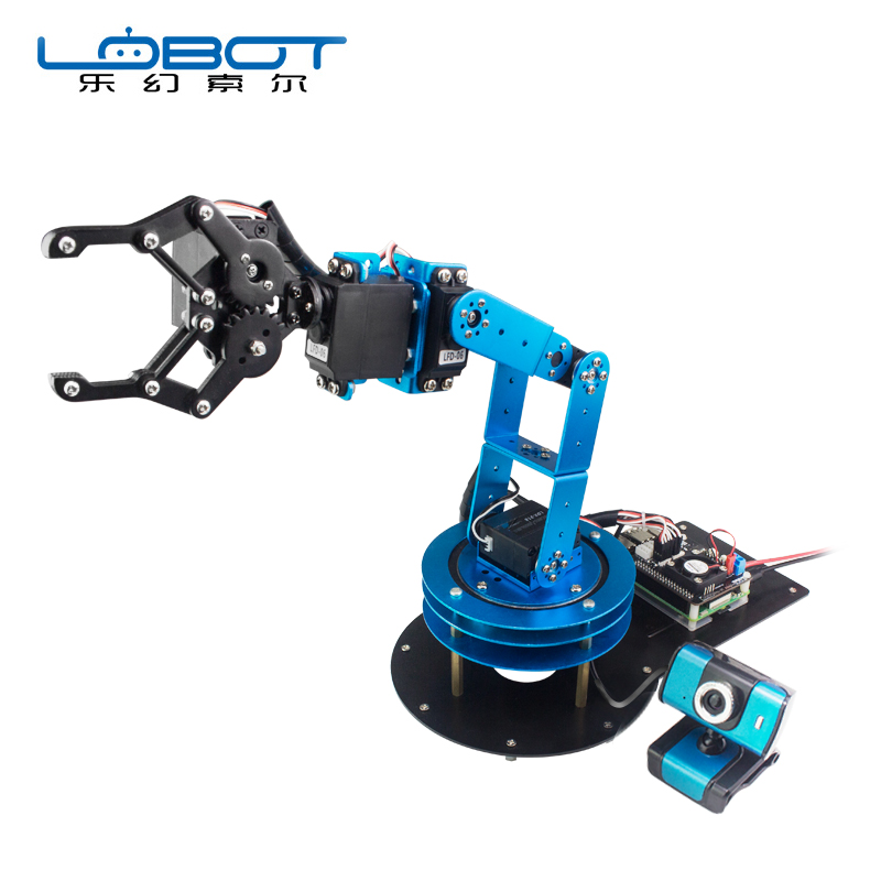 US $294 01 15% OFF|New Raspberry Robot Arm ArmPi/ Wireless WIFI Video  Remote Control 6 Degrees of Freedom Manipulator Model Kit-in Parts &  Accessories