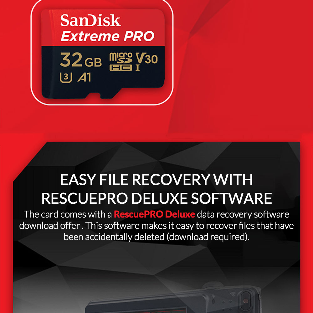 Sandisk Extreme Pro Ultra Micro Sd Memory Card Sdhc Sdxc Uhs I C10 Microsd 32gb Features Bg 06