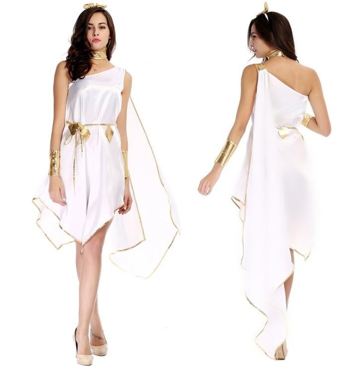 White sexy goddess costume