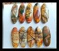 ПРОДАЖА 10 шт. Натуральный Камень Multi-color Пикассо Джаспер Кабошоны 23*9*3 мм, 12.95 г ювелирные аксессуары