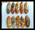 SALE 10pcs Natural Stone Multi-color Picasso Jasper Cabochons 23*9*3mm ,12.95g jewelry accessories