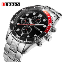 Curren Watches Men Quartz Watch Relogio Masculino Luxury Military Wristwatches Fashion Casual Water Resistant Army Sports