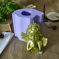Prayer Angel Candle Silicone Mold for Soap Making Mould DIY Handmade Craft Resin Clay Decorating Tool