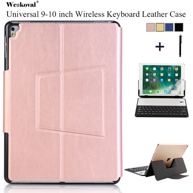 uk availability 9b107 bb7ed US $27.53 49% OFF|9 10 inch Universal Keyboard Case For ASUS Lenovo Huawei  Microsoft Amazon Tablet Flip Wireless Bluetooth Leather Stand Cover+Pen-in  ...