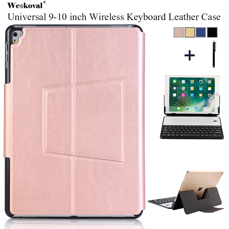 9 10 inch Universal Keyboard Case For ASUS Lenovo Huawei Microsoft Amazon Tablet Flip Wireless Bluetooth Leather Stand Cover+Pen