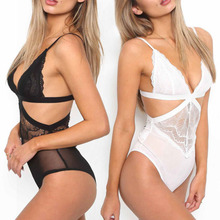 Sale 2018 S-XXXL  Sexy Jumpsuits Lingerie Underwear Suspenders Babydoll Women Fashion Lace Sleepwear