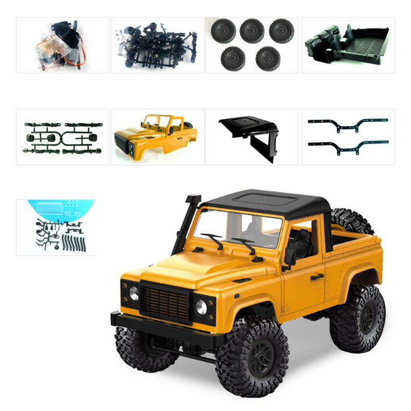 1 12 Rock Crawler D91 2 4G 4WD RC Car Remote Control Truck Toys Unassembled Kit Defender in Diecasts Toy Vehicles from Toys Hobbies