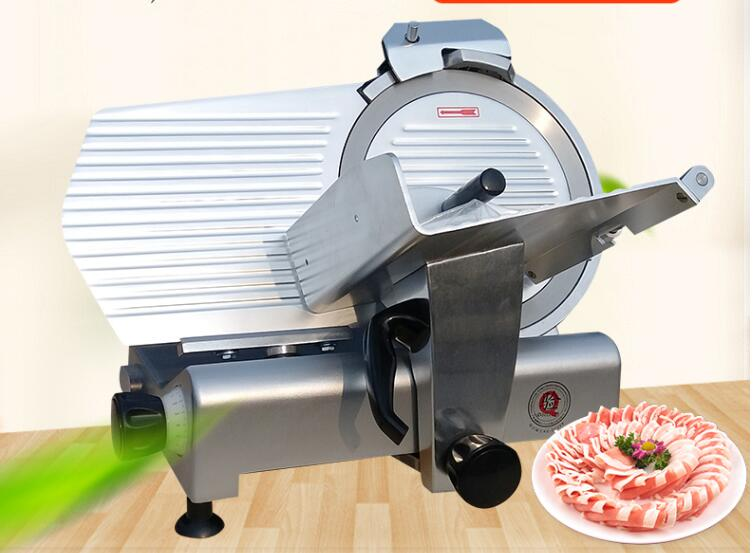 Free Shipping Cost, 12 inch Semi-Automatic Frozen meat Slicer Meat roll machine For Hotel and Restaurant Use p80 panasonic super high cost complete air cutter torches torch head body straigh machine arc starting 12foot